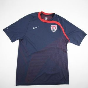 Nike Men's USA Soccer Shirt Jersey Sz L Navy Red